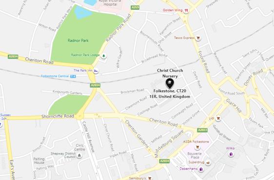 Christchurch Nursery Map